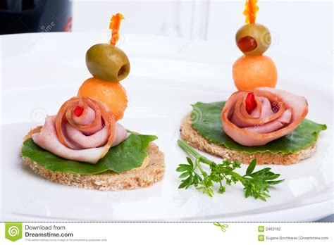 canapes m ham canapes stock photography image 2463162