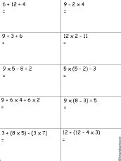 Order Of Operations Worksheets 6th Grade by Order Of Operations Worksheet 3 Printout