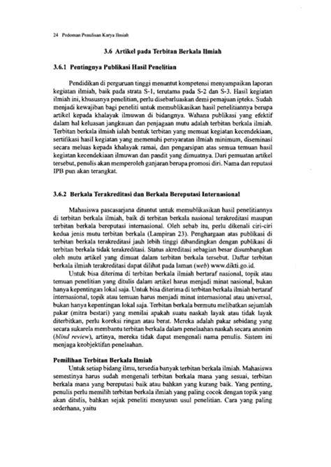 format penyusunan artikel pedoman penulisan karya ilmiah edisi ke 3
