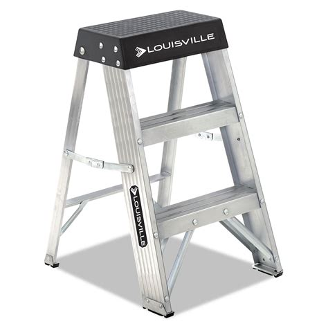one step aluminum step stool aluminum step stool by louisville 174 dadas3002