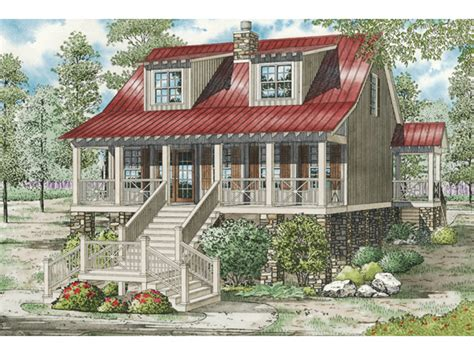 raised cottage house plans leslie pier raised cottage home plan 055d 0816 house plans and more
