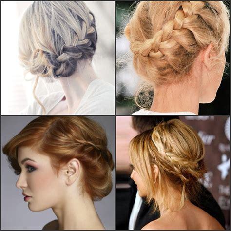 braids updo for short hairstep by step step by step guide to do the braided wedding hairstyle