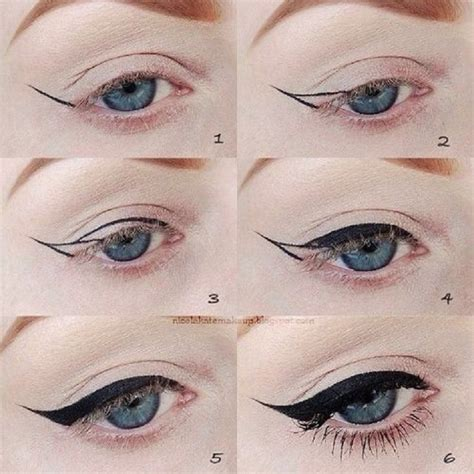 eyeliner tutorial with pictures winged eyeliner