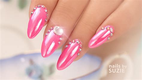 pink chrome pink chrome nails best nail designs 2018