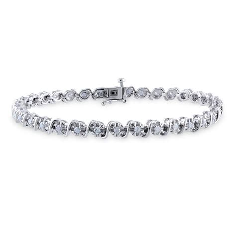 1 Ct Tw Tennis Bracelet by 1 Ct T W Quot S Quot Tennis Bracelet In Sterling Silver