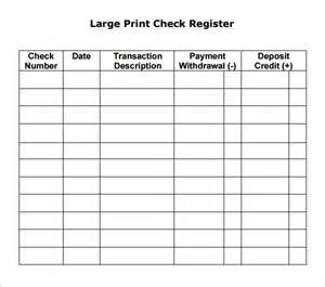 free printable check templates best photos of check register template free printable