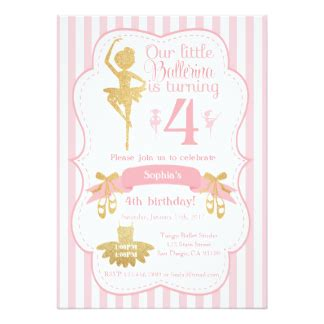 ballerina dance invitations amp announcements zazzle