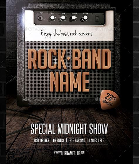 band flyer template 20 download in vector eps psd
