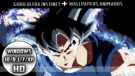 imagenes de goku para windows 7 fondos animados goku ultra instinct limit breaker para