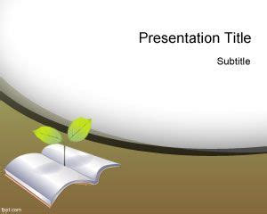 education templates free green education powerpoint template