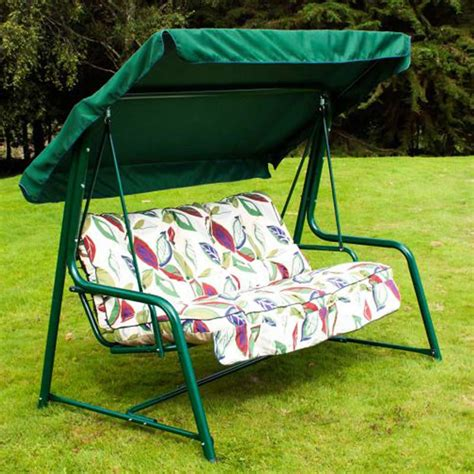 leaf chair swing greenfingers premium 3 seater swing seat leaf on sale