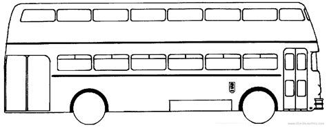Double Decker Bus Clipart Black And White   ClipartXtras