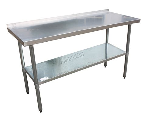 kitchen work bench table foxhunter stainless steel catering table backsplash work