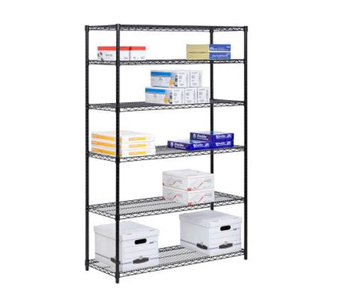honey can do 6 tier black steel commercial grade shelving