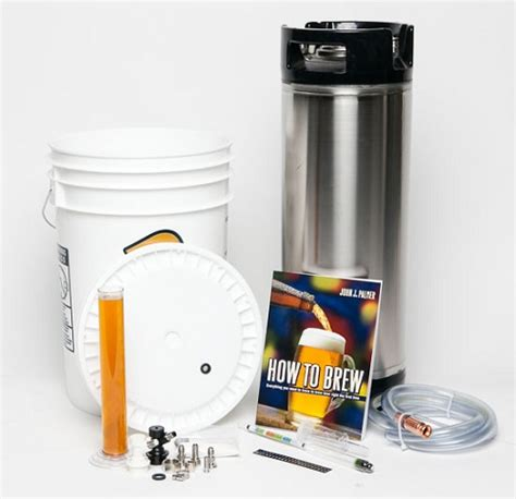 beginning homebrew kit with keg
