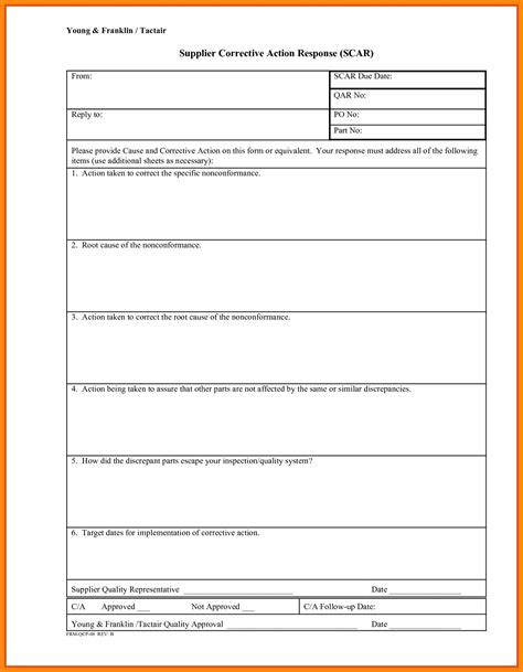 ncr report template ncr report template new corrective form template