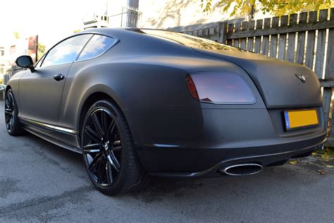 satin black bentley matte black wrap for bentley continental gt reforma uk