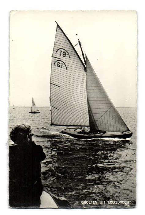 loosdrecht zeilboot oude ansichtkaarten echt loosdrecht loosdrecht zeilboot
