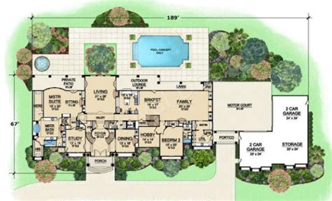 estate house plans presidential estate porte cochere house plan luxury house