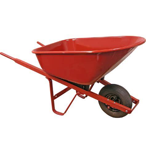 shop true temper 6 cu ft steel wheelbarrow at lowes