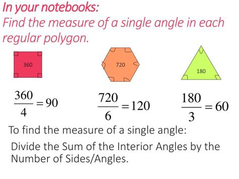 Measure Of An Interior Angle Of A Regular Hexagon by Ppt Geometry Unit 7 Polygons Powerpoint Presentation