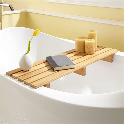 chasse bamboo tub shelf