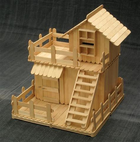 craft stick projects for preschoolers two story popsicle stick house mind food