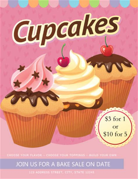 cupcake flyer templates free 10 free cupcake flyers to ignore demplates