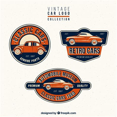 Auto 1 Logo by Collection Of Vintage Car Logos Vector Free