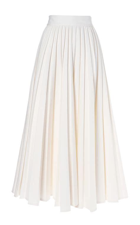 emilia wickstead pleated skirt in white lyst