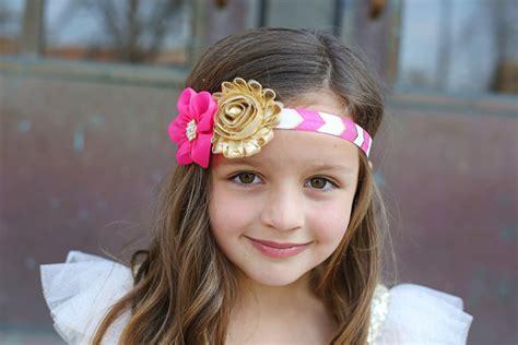Headband N Baby pink gold headband gold baby headband gold ivory headband newborn photo prop headband