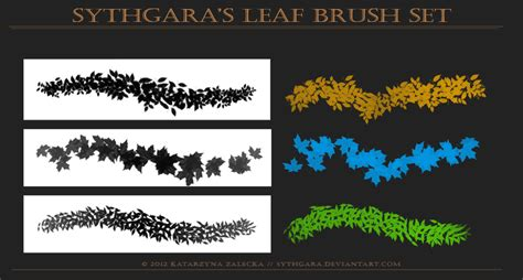 paint tool sai leaf brush leaves brush set by sythgara on deviantart