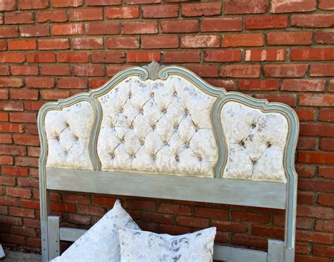 Antique Tufted Headboard by Headboard Tufted Vintage Wood Trim Upholstered