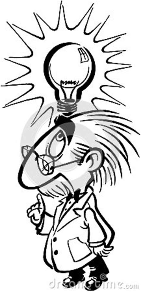 Einstein Smart Scientist Cartoon Vector Clipart Stock