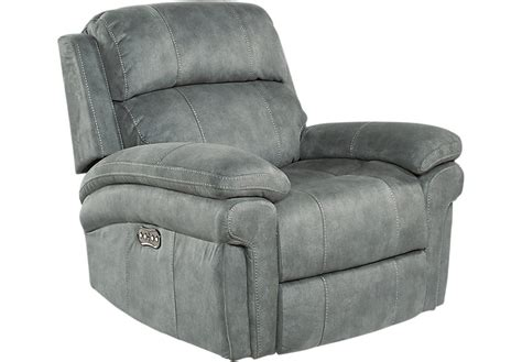 Power Recliner Chair Glendale Charcoal Power Recliner Recliners Black