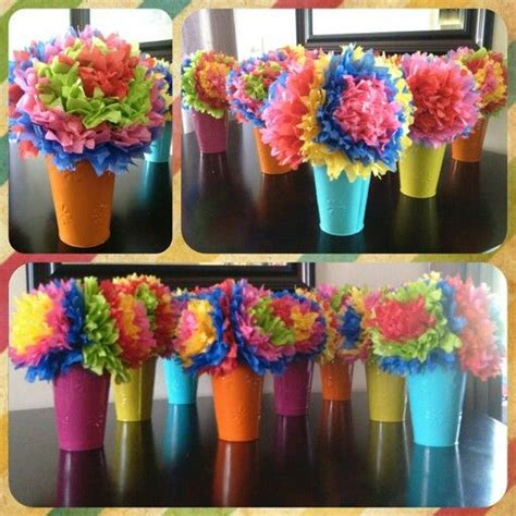 How To Make Centerpieces With Tissue Paper - 25 best tissue paper centerpieces ideas on