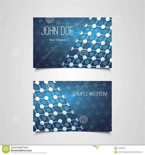 pattern design business business card template with abstract network connections