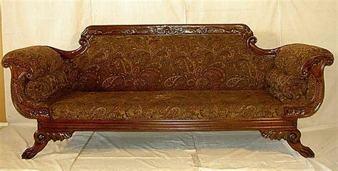 antique federal style sofa superb american federal style mahogany for sale