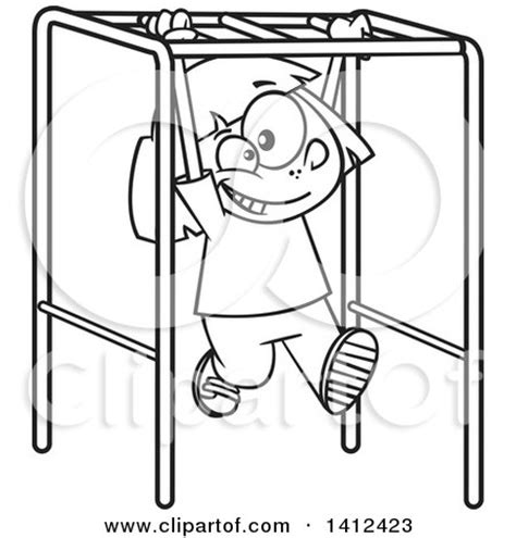 monkey bar coloring page m playground monkey bars drawing sketch coloring page