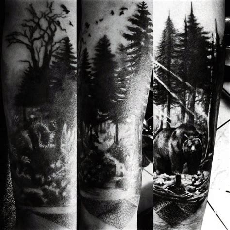 nature tattoos for guys 70 pine tree ideas for wood in the wilderness