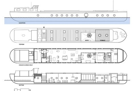 Studio Apartment Plans transformation of a barge into a home by bbvh architects
