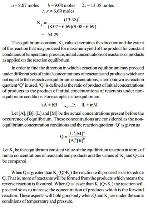 Mba Concentrations Explained by Attainment Of Equilibrium In Chemical Reactions Study