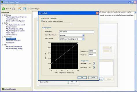 nvidia gpu fan control nvidia panel gpu auto fan control youtube
