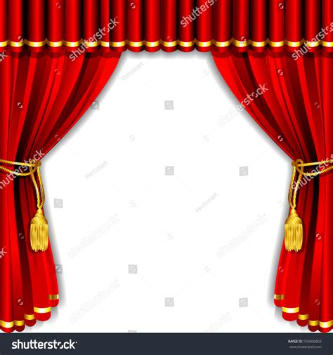 stage backdrop design vector illustration silk stage curtain white backdrop stock