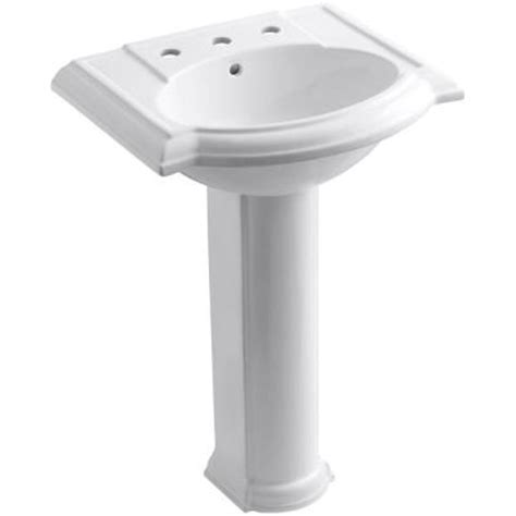 home depot kohler bathroom sink kohler devonshire pedestal combo bathroom sink in white k