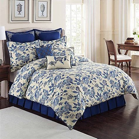 williamsburg persiana comforter set  blue bed bath