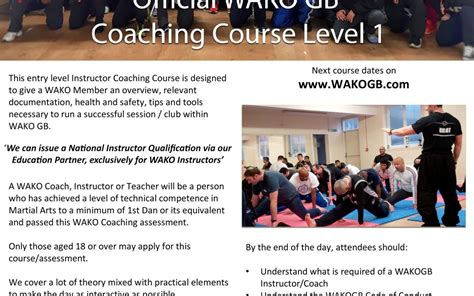 Offering Dating Course by Wako Gb World Association Of Kickboxing Organisations Gb