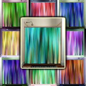 Aqua Valances For Windows Decorating Brown Aqua Teal Turquoise Stripes Shower Curtain Bathroom
