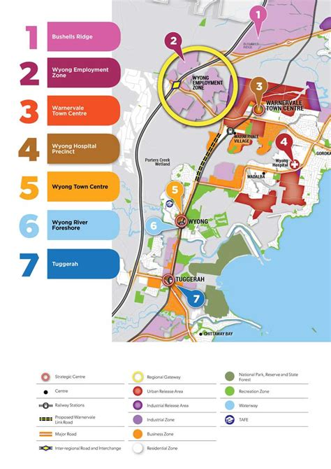map of nsw central coast department of planning and environment a prosperous