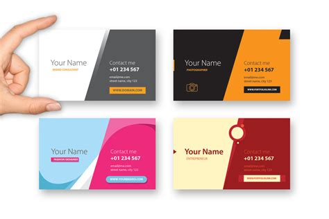 multi photo card template greybiz multi colors business card template by